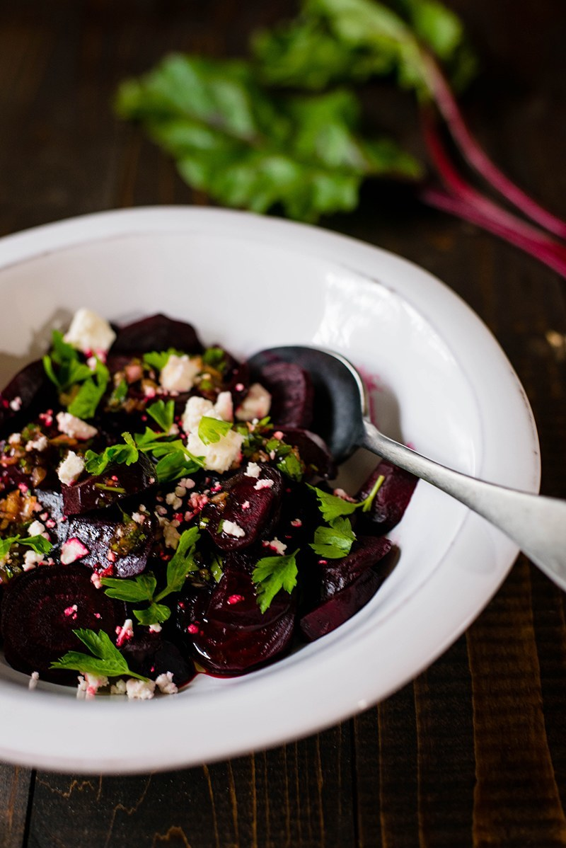 Roasted Beet Salad With Feta