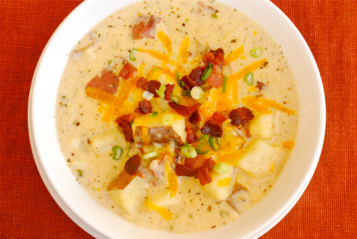 Baked Potato Soup recipe and images by Lacey Baier, a sweet pea chef
