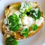 Broccoli and Alfredo Stuffed Baked Potato Square Recipe Preview Image