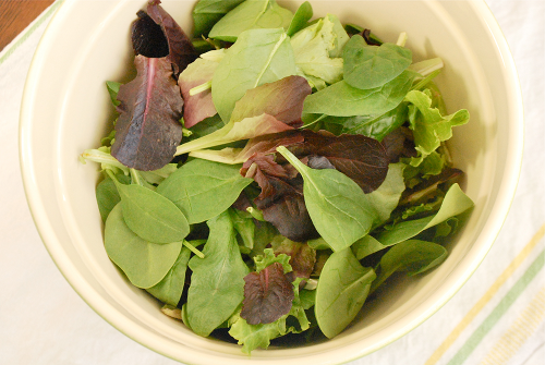 Simple Salad with Balsamic Vinaigrette recipe and images by Lacey Baier, a sweet pea chef