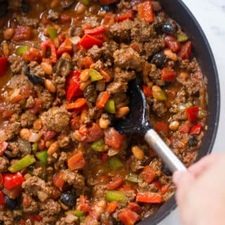 Homemade Chili | Want to learn how to make homemade chili?  This easy homemade chili recipe is full of satisfying meat, beans, and veggies, and will be the last chili recipe you'll ever need. | A Sweet Pea Chef