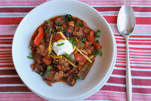 Homemade Chili recipe and images by Lacey Baier, a sweet pea chef