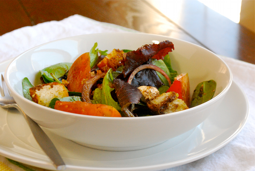Balsamic Vinaigrette Salad recipe and images by Lacey Baier, a sweet pea chef