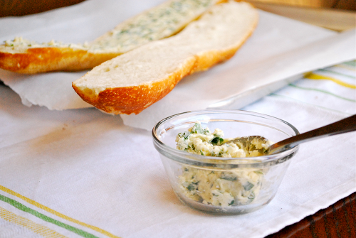 Homemade Garlic Bread recipe and images by Lacey Baier, a sweet pea chef