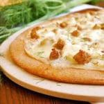 Roasted Fennel and Italian Sausage Pizza Square Recipe Preview Image