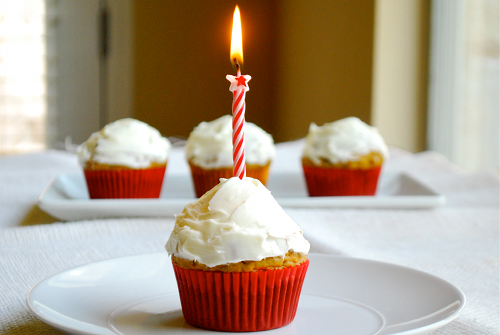 Carrot Cake Cupcakes with Cream Cheese Frosting recipe and images by Lacey Baier, a sweet pea chef