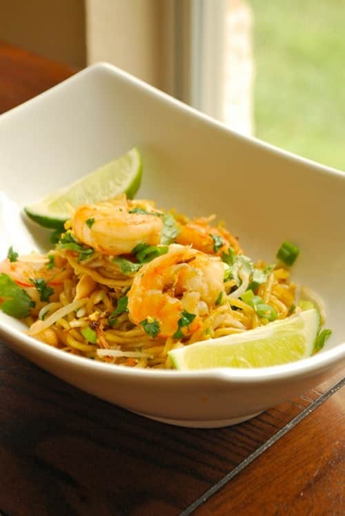 Pad Thai with Shrimp recipe and images by Lacey Baier, a sweet pea chef
