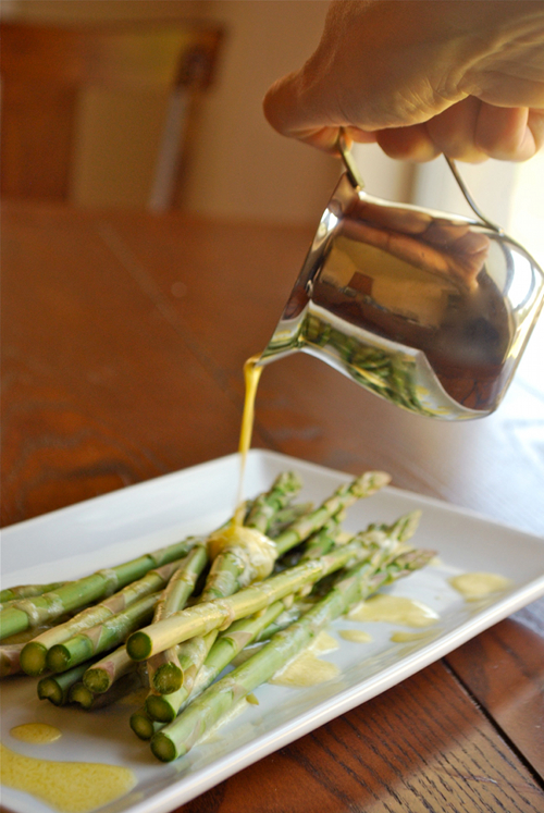 Easy Hollandaise Sauce recipe and images by Lacey Baier, a sweet pea chef