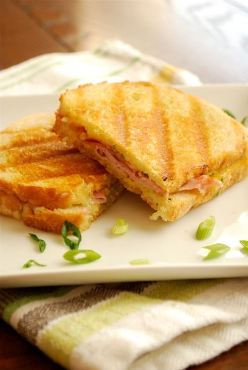 Ham and Gruyere Panini recipe and images by Lacey Baier, a sweet pea chef