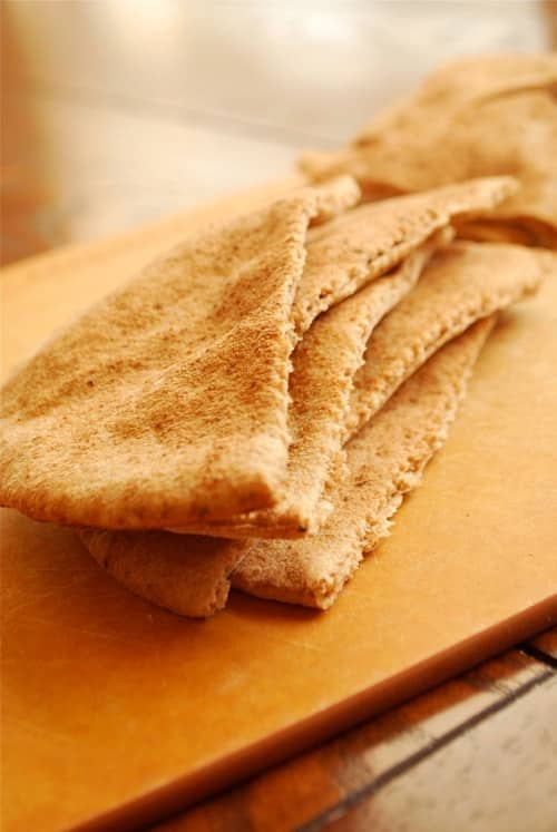 Baked Pita Chips recipe and images by Lacey Baier, a sweet pea chef