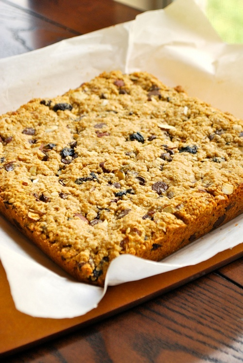 Chocolate, Cherry and Oatmeal Bars recipe and photos by Lacey Baier, a sweet pea chef
