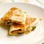 Spinach, Mushroom and Jack Quesadillas Square Recipe Preview Image