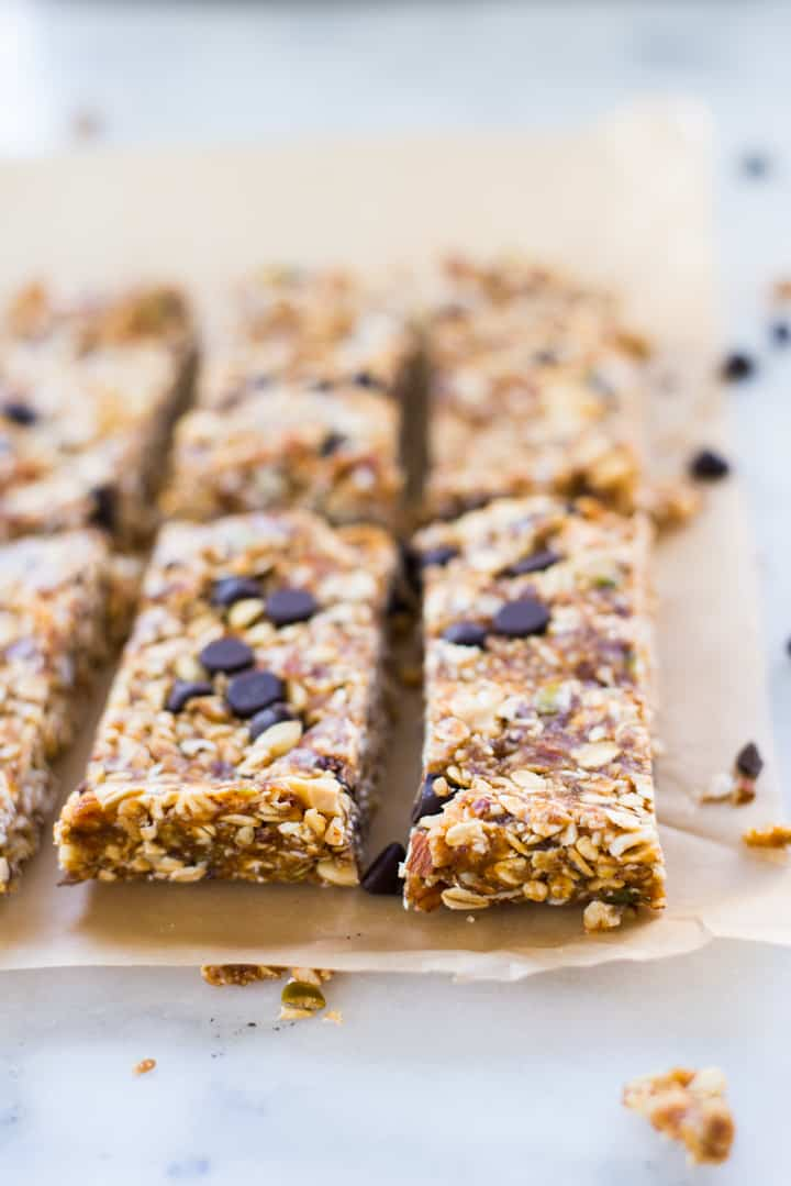 This homemade granola bar recipe is free of refined sugar, full of protein, and to top that off, good for you! They are easy to make, and you can vary the bars with a variety of delicious add-ins.