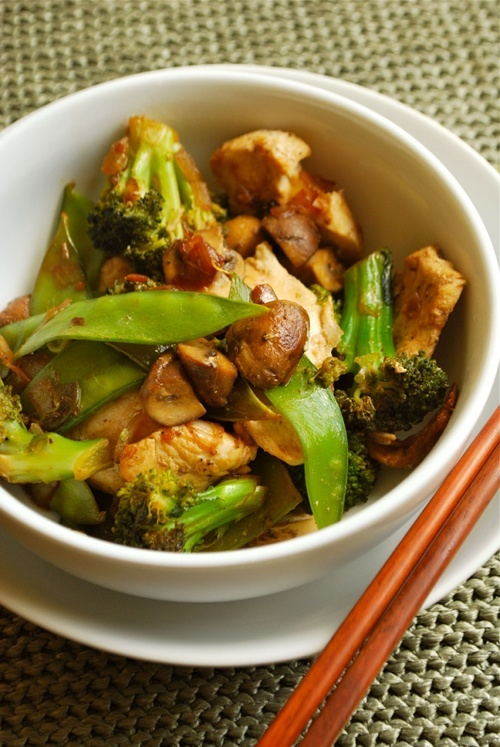 Chicken Stir Fry recipe and images by Lacey Baier, a sweet pea chef