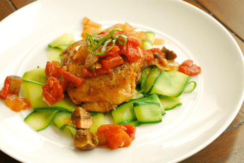 Chicken Cacciatore recipe and images by Lacey Baier, a sweet pea chef