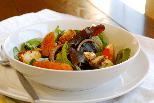 Simple Salad with Balsamic Vinaigrette