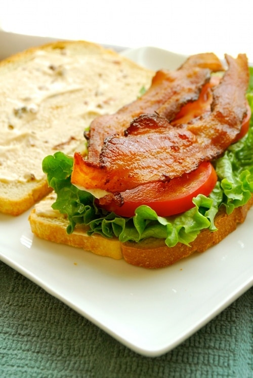 BLT with Chipotle Mayo recipe and images by Lacey Baier, a sweet pea chef