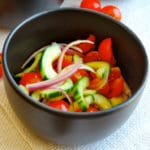 Cherry Tomato and Cucumber Salad Square Recipe Preview Image