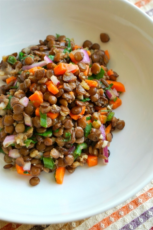 Cold Lentil Salad recipe and images by Lacey Baier, a sweet pea chef
