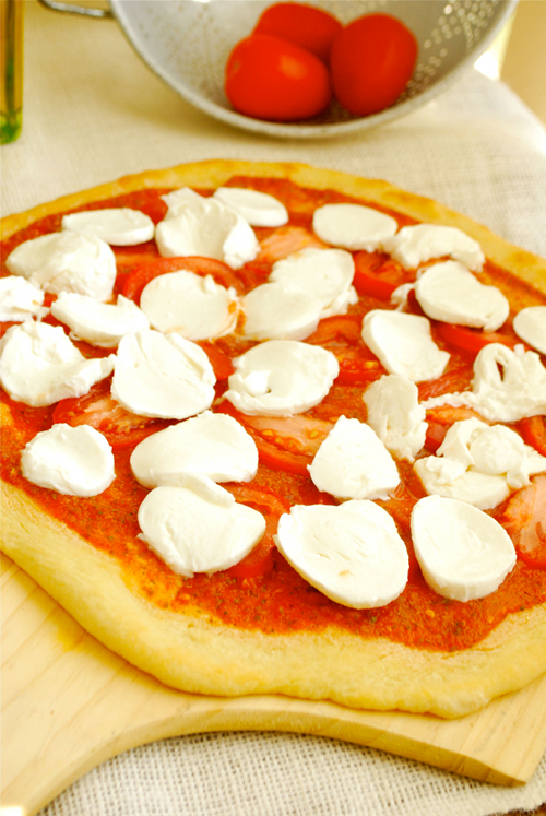 Pizza Margherita recipe and images by Lacey Baier, a sweet pea chef