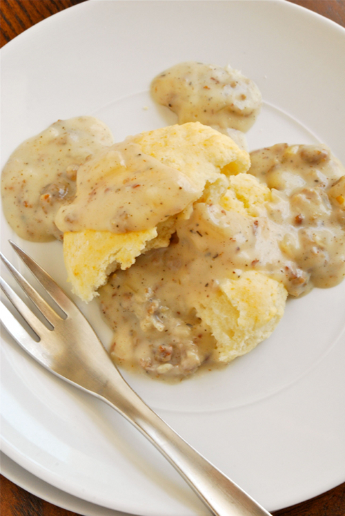 Sausage Gravy recipe and images by Lacey Baier, a sweet pea chef