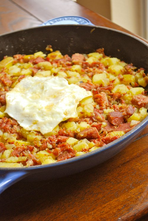 Corned Beef Hash recipe and images by Lacey Baier, a sweet pea chef