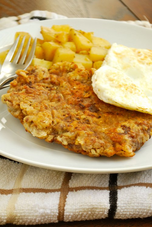 Chicken Fried Steak recipe and images by Lacey Baier, a sweet pea chef