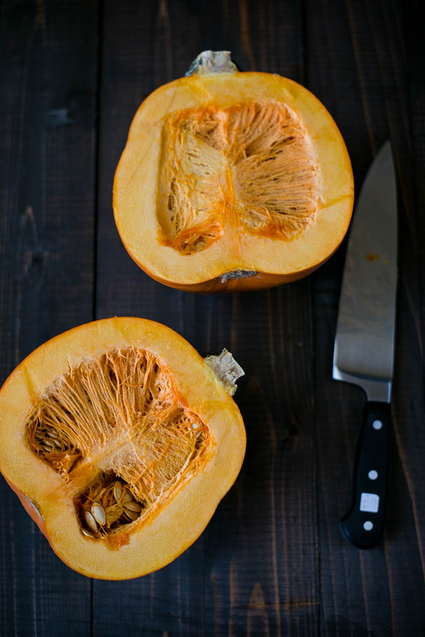 How To Make Pumpkin Puree From A Fresh Pumpkin - Sliced