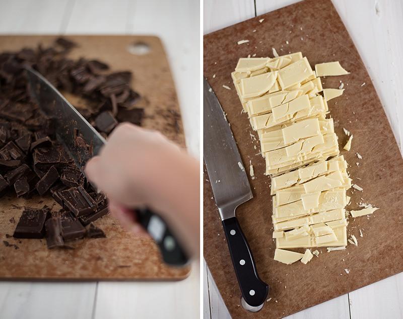 Peppermint Bark Recipe - Chopped Chocolate