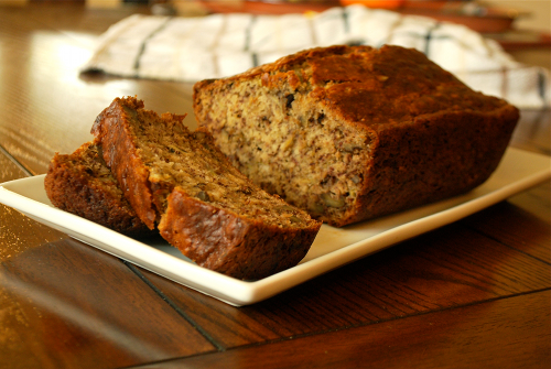 Banana Bread recipe and images by Lacey Baier, a sweet pea chef