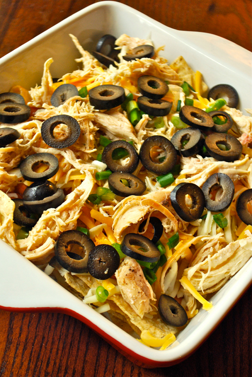 Shredded Chicken Nachos recipe and images by Lacey Baier, a sweet pea chef