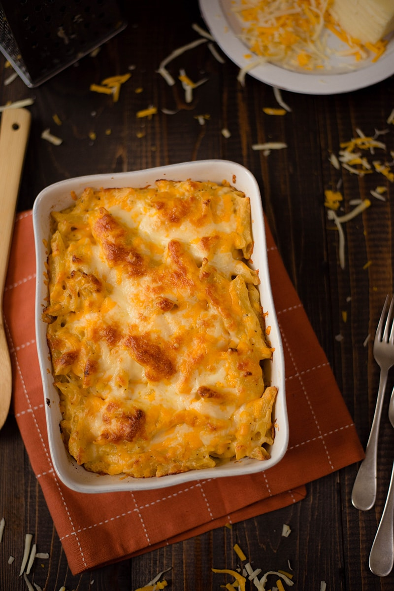 Baked mac and cheese recipe with heavy whipping cream