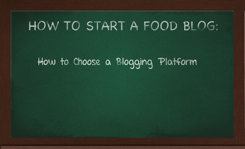 How to Start a Food Blog Series by Lacey Baier, a sweet pea chef