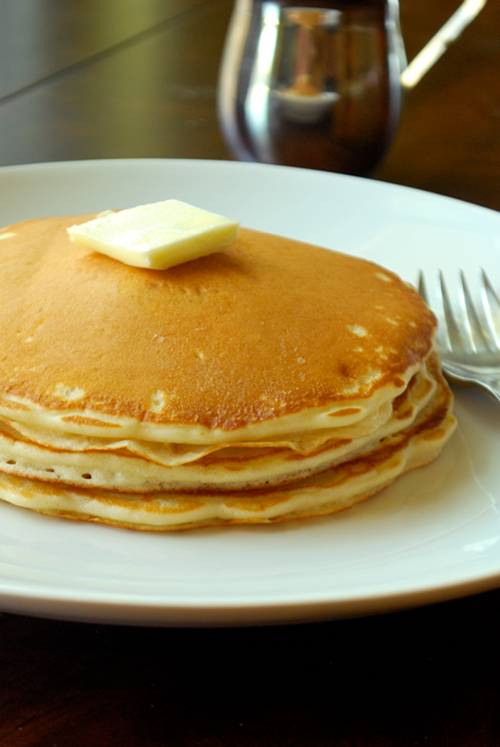 Quick Diner Pancakes recipe and images by Lacey Baier, a sweet pea chef
