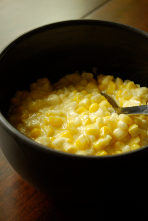 Fresh Creamed Corn recipe and images by Lacey Baier, a sweet pea chef