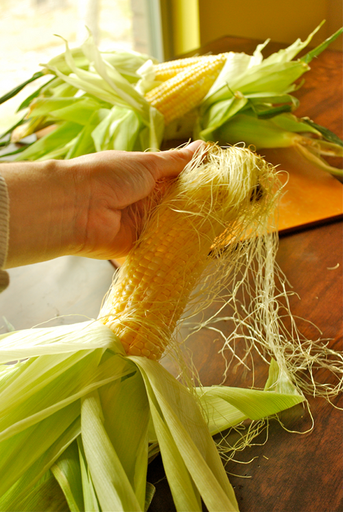 How to Grill Corn on the Cob by Lacey Baier, a sweet pea chef