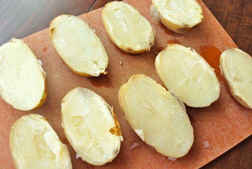 Baked Potato Skins recipe by Lacey Baier, a sweet pea chef