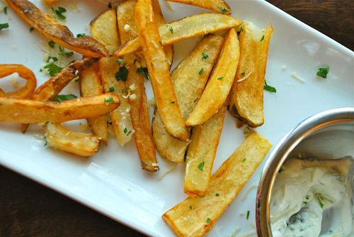 Insanely Good Garlic Fries by Lacey Baier, a sweet pea chef