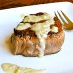 Filet Mignon with Gorgonzola Cream Sauce Square Recipe Preview Image