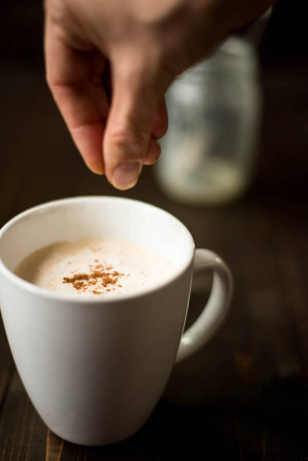 Eggnog Latte - Sprinkling The Nutmeg
