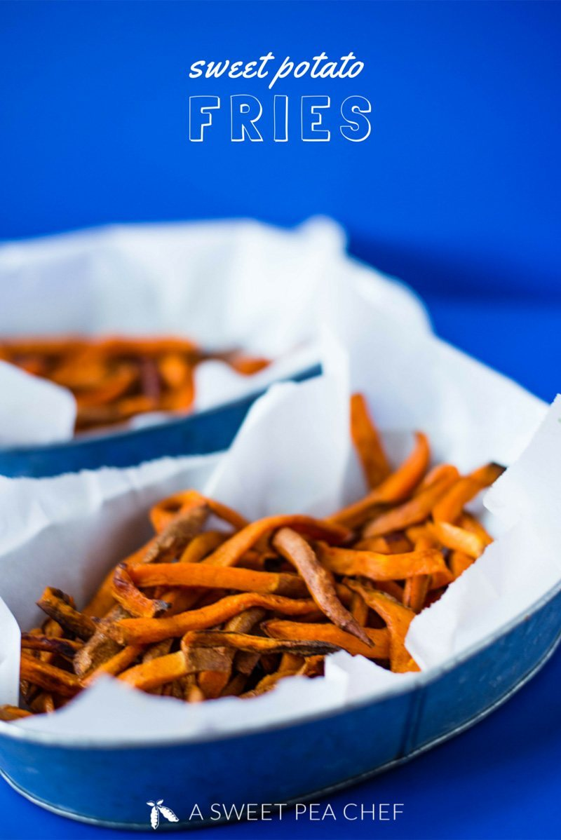 How to Make Sweet Potato Fries | Learn how to make sweet potato fries – delicious, oven-baked, healthier, and cleaner than regular fries, plus super easy to make! | A Sweet Pea Chef