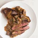 Steak With Creamy Balsamic Mushroom Sauce