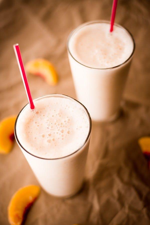 Peach Protein Shake • A Sweet Pea Chef