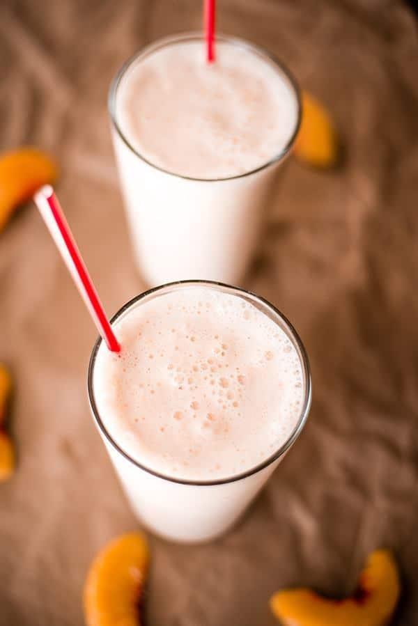 Banana Peach Almond Milkshake Recipes — Dishmaps