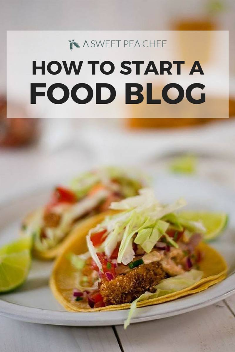 How to start a food blog - lets get started