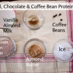 Almond Butter, Chocolate and Coffee Bean Protein Shake
