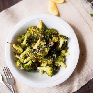 Roasted Broccoli | A healthy and delicious vegetarian side! www.asweetpeachef.com