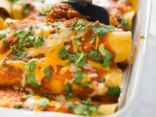 Shredded Chicken Enchiladas A Sweet Pea Chef
