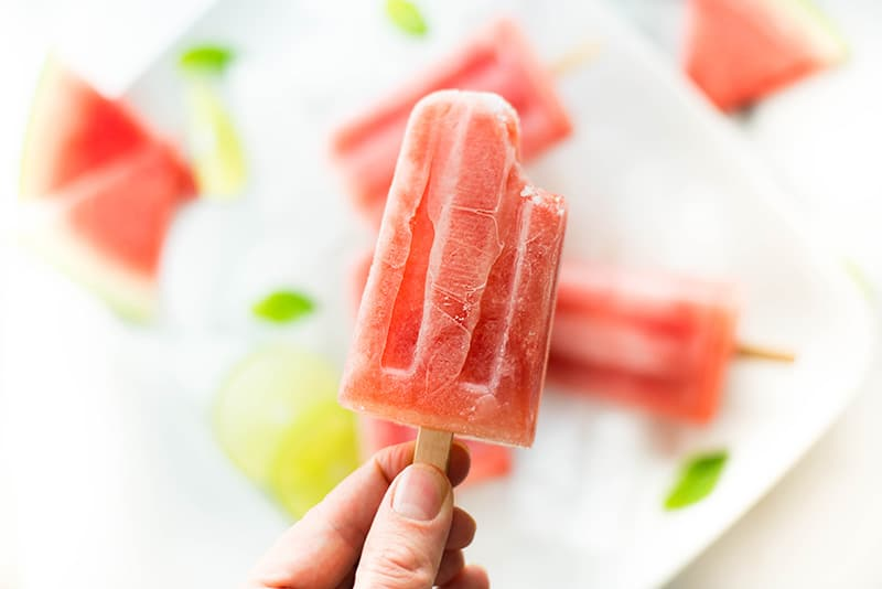 Watermelon Mint Popsicles | The perfect cool treat for summer! | A Sweet Pea Chef