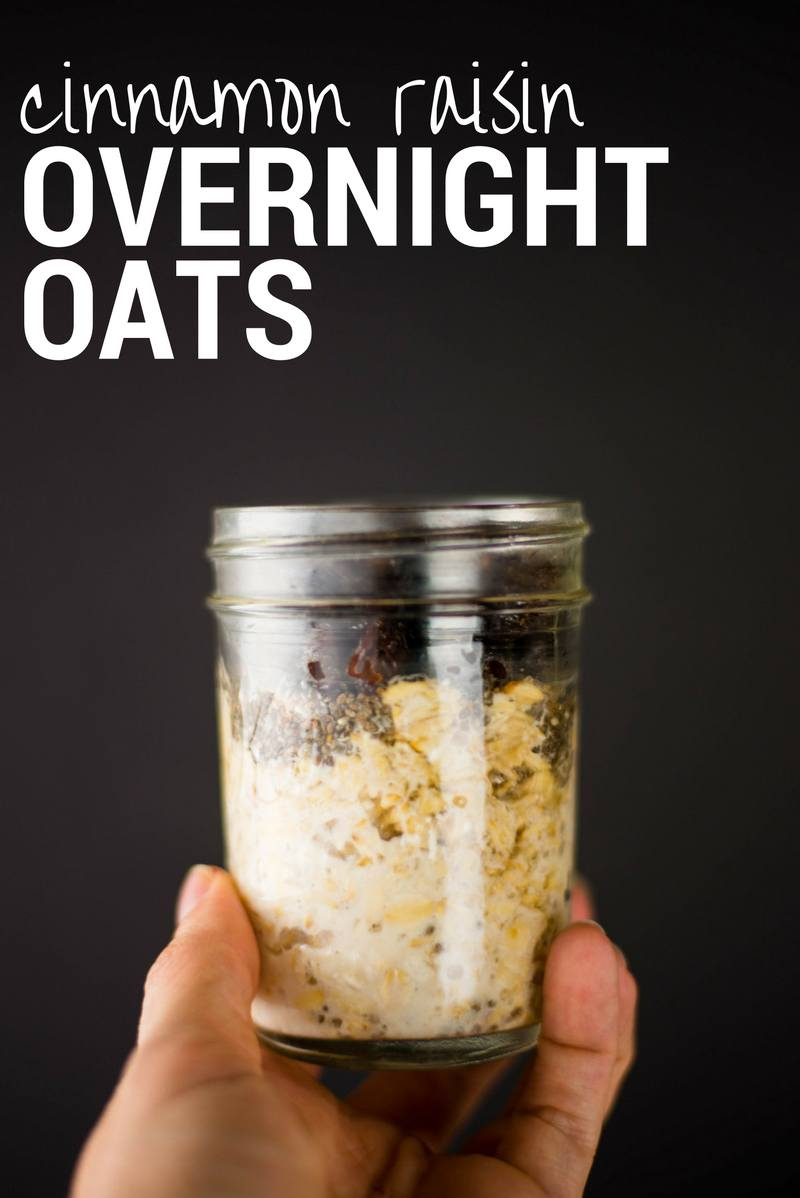 Cinnamon Raisin Overnight Oats Recipe | Quick, healthy, and less than 10 minutes to prep! | A Sweet Pea Chef
